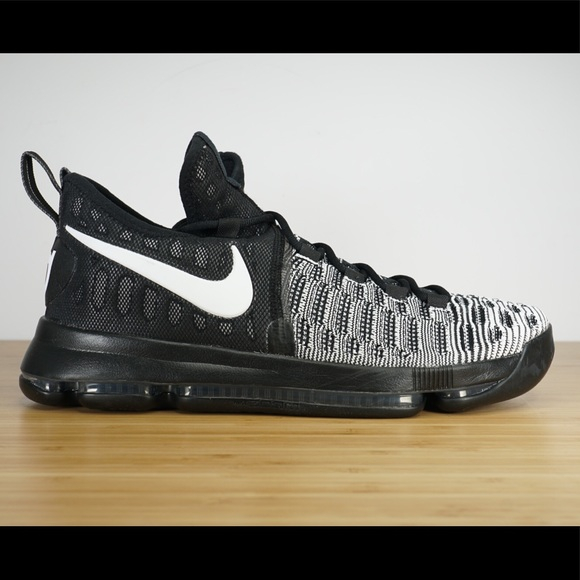 check out db9d4 f3c3a Nike Zoom KD 9 Oreo Black White Basketball Shoes NWT